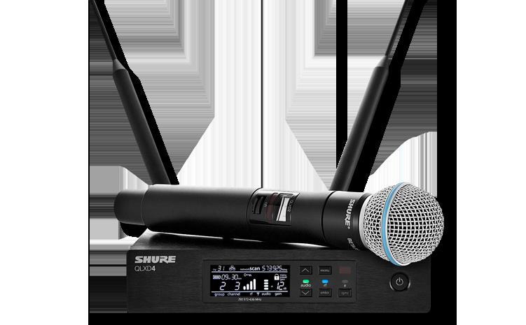 Drahtlosanlagen mit Handheld-Mikrofon