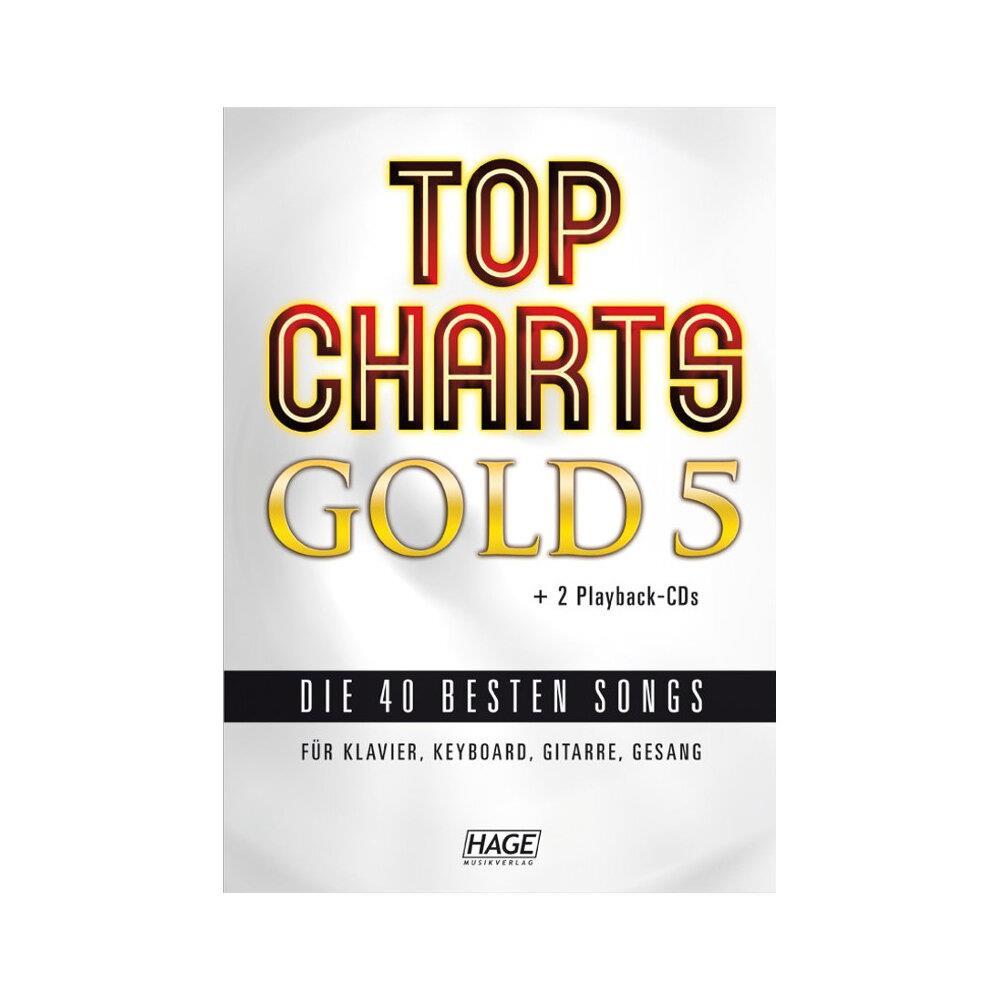 Top Charts Gold 6 mit 2 CDs HAGE für Klavier Gitarre und Gesang Keyboard
