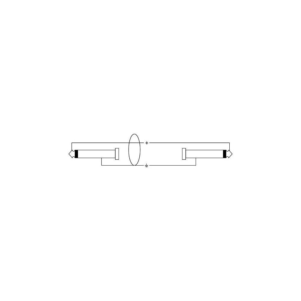Cordial CCI 3 PP Instrumentenkabel 3 m Klinke//Klinke 6,3 mm mono