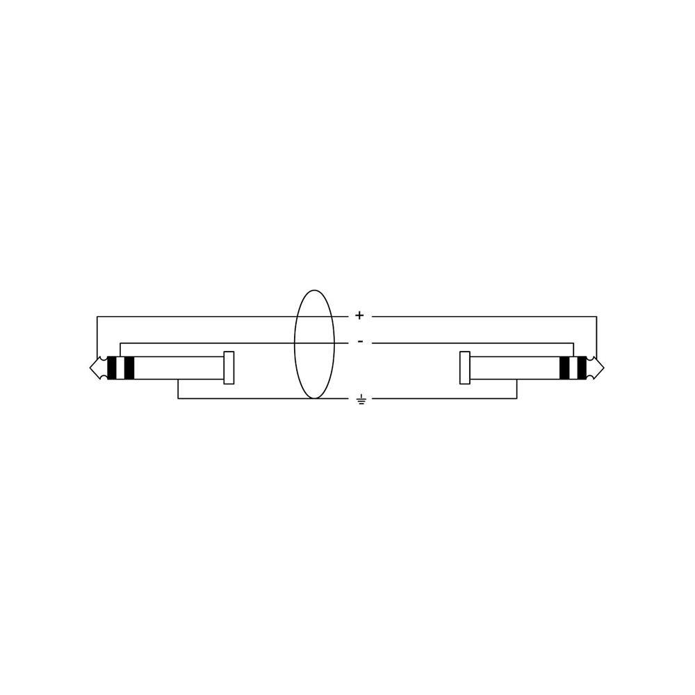 Cordial CFM 3 WV Kabel 3,5mm stereo Klinke auf 6,3mm stereo Klinke