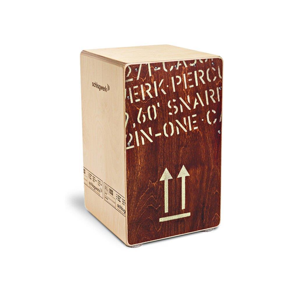 2inOne Snare-Technik Schlagwerk CP404RED 2inOne Red Edition Cajon
