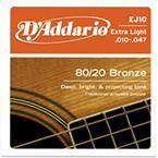 D'addario EJ10 Extra-Light 80/20 Bronze