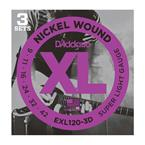 D'addario EXL120-3D Pack (3 Sets)