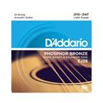 D'addario EJ38 Light 12 String Phosphor Bronze
