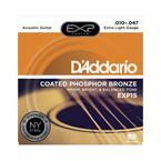 D'addario EXP15 Extra-Light Coated Phosphor Bronze