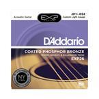 D'addario EXP26 Custom-Light Coated Phosphor Bronze