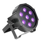 Cameo Flat PAR Can 7X3W UV IR schwarz
