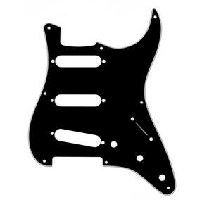 Fender Pickguard Stratocaster '57 Black, 3 lagig