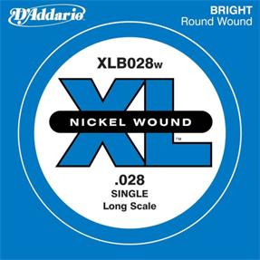 D'addario Einzelsaite Bass .028, Long Scale