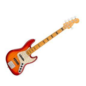 Fender American Ultra Jazz Bass V, MN Plasma Red Burst