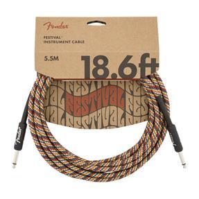 Fender Festival Instrument Cable, Rainbow 18,6'