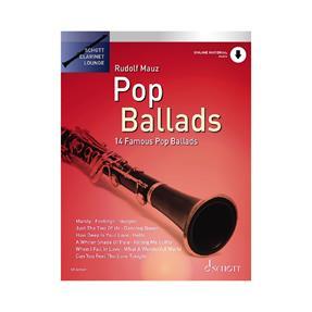 Schott Verlag Pop Ballads für Klarinette mit Download