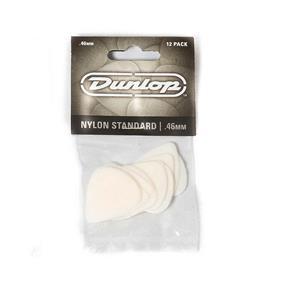 Dunlop Nylon Standard Plektrum, 0,46 mm, weiß