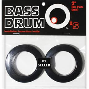 "BASSDRUM OS 2"" Tom Ports Black"