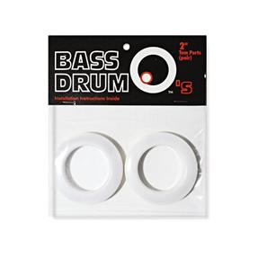 "BASSDRUM OS 2"" Tom Ports White"