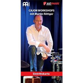 JustMusic Eintrittskarte Martin Röttger Cajon Workshop Berlin