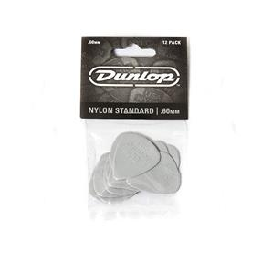 Dunlop Nylon Standard Plektrum, 0,60 mm, grau