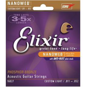 Elixir Nanoweb Custom Light 16027, Phosphor Bronz