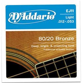 D'addario EJ11 Light 80/20 Bronze