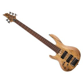 LTD B-205SM NS Spalted Maple Lefthand, Natural Satin