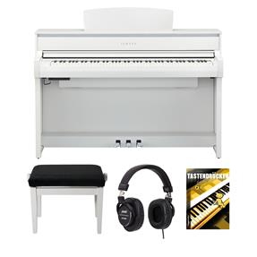 Yamaha CLP-675WH Digitalpiano Bundle