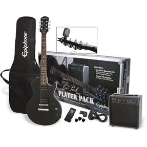 Epiphone Les Paul Electric Guitar Player Pack, RW/ Ebony