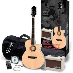 Epiphone PR-4 E A/E Player Pack, Natural Pack Collection