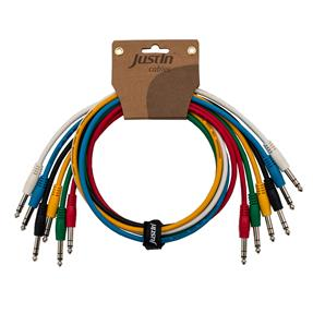 Justin Connect Stereo 30cm Patchkabel 6er Set