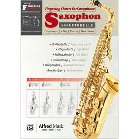 Alfred Publishing Grifftabelle Saxophon