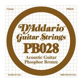 D'addario Einzelsaite Westerngitarre .028