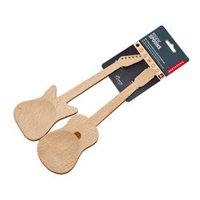 Kikkerland Salatbesteck Rock'in Spoons Gitarren