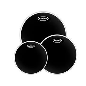 """Evans Black Chrome Tom Pack Fusion 10"""", 12"""", 14"""""""