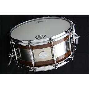 "Acoutin Custom Walnut Gloss/Brushed Stainless Steel 14"" x 6½"""