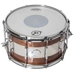 "Acoutin Custom Walnut Gloss/Polished Stainless Steel 14"" x 8"""