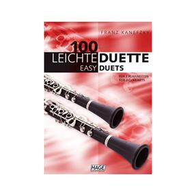 Hage Musikverlag 100 leichte Duette für 2 Klarinetten