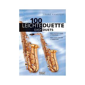 Hage Musikverlag 100 leichte Duette für 2 Saxophone