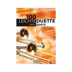 Hage Musikverlag 100 leichte Duette für 2 Posaunen