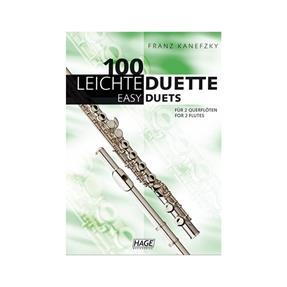 Hage Musikverlag 100 leichte Duette für 2 Querflöten