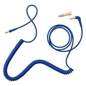 AIAIAI C08 Spiralkabel mit Adapter blau