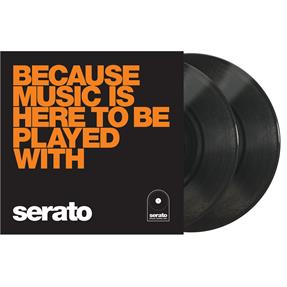 "Serato 10"" Control Vinyls Because Music schwarz"