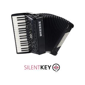 Hohner Amica forte III 72 schwarz silent key