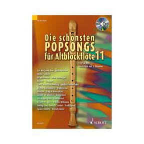 Schott Verlag Die schönsten Popsongs für Altblockflöte
