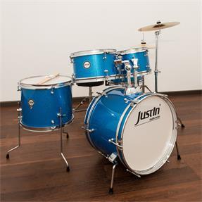 Justin Kinderschlagzeug Studio Series Junior 16 Schlagzeug Set - Blau