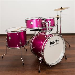 Justin Kinderschlagzeug Studio Series Junior 16 Schlagzeug Set - Pink