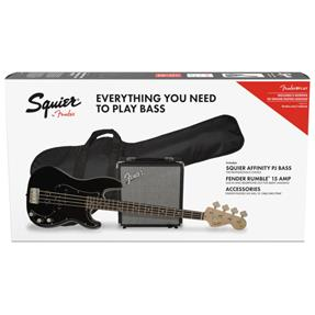 Squier PJ-Bass Pack Affinity, Black