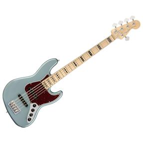 Fender Jazz Bass V American Elite, Satin Ice Blue Met.