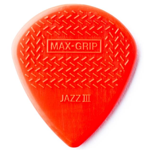 Dunlop Nylon Max Grip Jazz III,  Nylon Red
