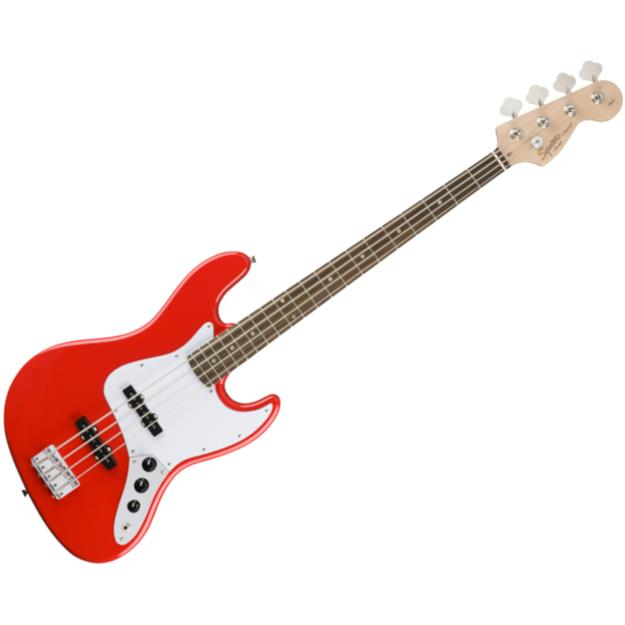 Squier Jazz Bass Affinity, Race Red