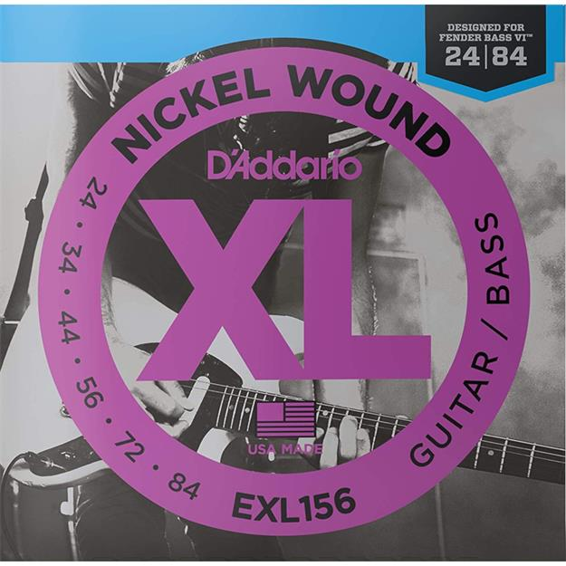 D'addario EXL156 E-Gitarre/Bass VI