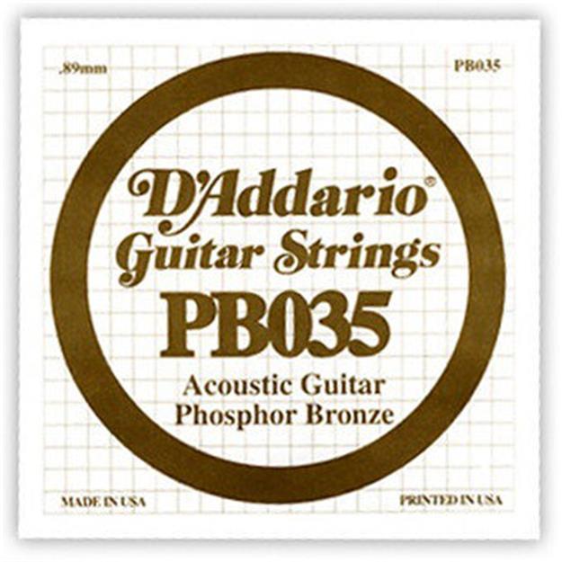 D'addario Einzelsaite Westerngitarre .035
